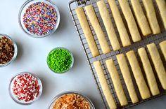 Sprinkle Sugar Cookie Sticks Recipe on justataste.com
