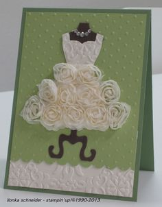 Stampin Up!  Karte Hochzeit....I couldn't make this ever....but it nice! :-)