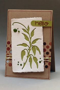 Khaos Carten - something to try - die cut canvas
