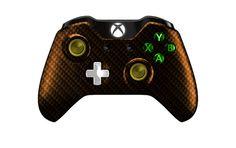 XboxOneController-OrangeBlackCarbonFiber   Flickr - Photo Sharing! #xboxonecontroller #xbone #xbox1controller #customcontroller #moddedcontroller