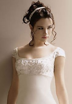 Bridal Empire - Brunette, 3a, Wavy hair, Short hair styles, Updos, Wedding hairstyles, Styles, Special occasion, Female, Curly hair, 2c hairstyle picture