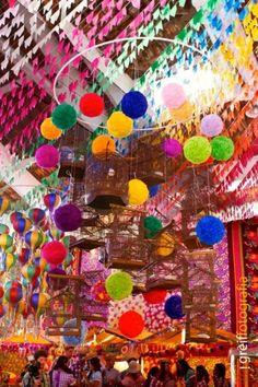Móbiles - Decoração de Festa Junina   Ideias criativas e super charmosas para o São João