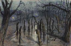 "Stanisław Wyspiański (Polish, The Mulchs (""Planty"" at night) (Chochoły), 1898 National Museum of Art, Warsaw, Poland Plant Drawing, Wassily Kandinsky, National Museum, Art Google, Great Artists, Art Museum, Graphic Art, Fine Art, Art Prints"