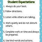 Classroom Rules based on philosophies of Rick Morris.  Six basic rules that cover anything and everything.  Labeled as Student Expectations to have...