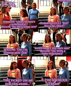 Buffy the Vampire Slayer willow and harmony