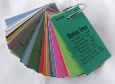 Create a swatch book of your inks
