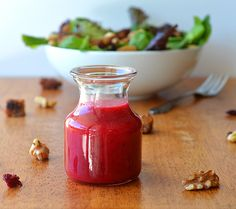 Cranberry Vinaigrette - Perfect for Thanksgiving! Vegan Recipe