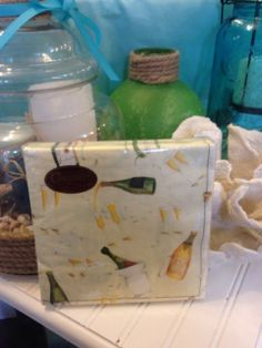 This awesome dinner napkin set is a great way to bring a little beach to your table! Come on in to Coastal Living for the perfect additions to your table! This is great if you are popping champagne bottles this Memorial Day!
