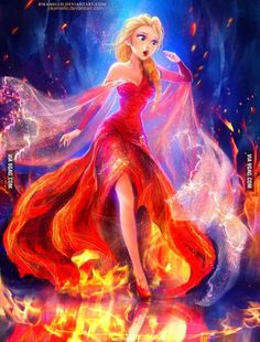 What if Elsa had fire power?!
