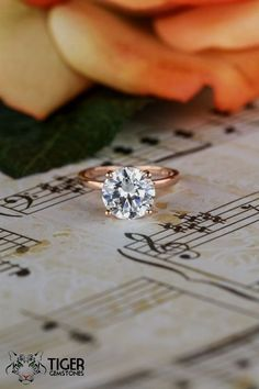3 Carat 4 Prong 9mm Solitaire Engagement Ring by TigerGemstones #solitairering