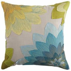 With layer upon layer of floral beauty, this is a pillow that brings new complexity to a simple accent. Go deep into folds of flowers with t...