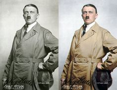 Nice colorization of a 1923 photo of Hitler.