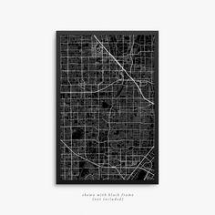 Santa Ana City Street Map Santa Ana California USA by JurqStudio