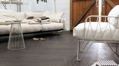 Combine the beauty of a wood and stone floor with the aesthetics of a durable and comfortable LVT floor with Allura Domestic LVT and Enduro LVT. Flooring, Decor, Remodel, Furniture, Bed, Boho Living, Home, Flooring Inspiration, Home Decor