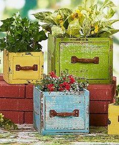 Wood Planter Boxes Rustic Box Deck Flower Herb Garden Holder Outdoor Patio Pot  | eBay