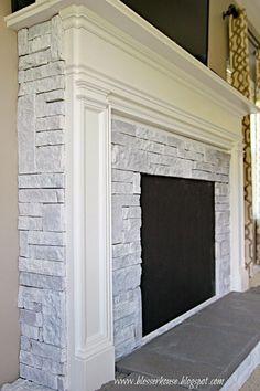 DIY Faux Fireplace Entertainment Center Part 3 | Bless'er House