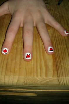 Red nose day nails Red Nose Day, Nail Arts, Nail Art Designs, Craft Ideas, Diy Crafts, Crafty, Learning, Usa, Nails