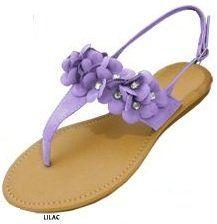 Womens Roman Gladiator Sandals Flats w/Rhinestone Flowers 6 Colors