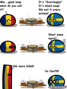 polandball Never seen romaniaball here. Never seen romaniaball here. Never seen romaniaball here. Poland Country, Country Art, Good Jokes, Funny Jokes, Worlds Funniest Memes, Satw Comic, Verona, Funny Comic Strips, Aliens Funny