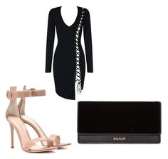 """Untitled #8"" by lxcia-xx on Polyvore featuring Gianvito Rossi and Balmain"