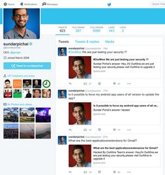 Conta do CEO da Google no Quora foi alvo de ataque