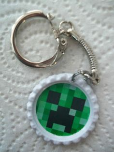 Minecraft Creeper Keychain / zipper pull for jacket, backpack. In goodie bags