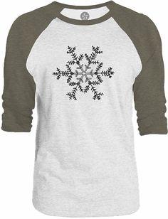 Big Texas Snowflake 3/4-Sleeve Raglan Baseball T-Shirt