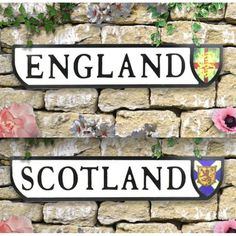 England, Scotland, Wales, Ireland Crest Signs, Best quality Wall Road Sign at Smithers of Stamford Uk Gift Store For Patriots of Britain