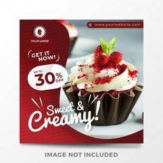 discount design Modern food sale banner for web and social media Premium Vector Food Graphic Design, Food Poster Design, Food Design, Social Media Poster, Social Media Banner, Social Media Design, Web Banner Design, Web Design, Instagram Banner