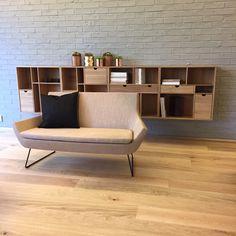 Happy sofa -Roger Persson/ Fakta shelf - Yngve Ekström Swedese