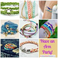 With Have an Arm Party! 30 Stackable to Make, we have all the options you need to create a blended bracelet look that is just for you. From wrap bracelets to macrame patterns to braided hemp bracelet patterns, you are sure to find several bracelets for you amongst this collections of DIY bracelet patterns.  | AllFreeJewelryMaking.com