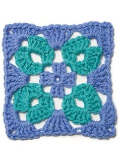 """crochet granny square ideas Examples of crochet patterns found in the """"When Granny Meets Filet"""" collection. Crochet Motifs, Granny Square Crochet Pattern, Crochet Blocks, Crochet Squares, Crochet Granny, Crochet Stitches, Crochet Patterns, Love Crochet, Crochet Flowers"""