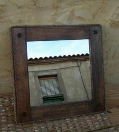 1000 images about muebles on pinterest rustic bathroom for Espejos de bano rusticos de madera