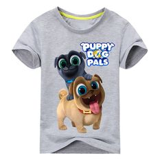 c181c4c11 Summer Cartoon Puppy Dog Pals Print Tee Tops For Boy Girls Clothing  Children White 3D Funny