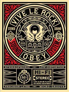 Vive-Le-Rock | OBEY | Shepard Fairey