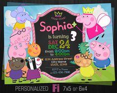 Peppa Pig Invitation Peppa Pig Birthday Party by ClassicInvitation