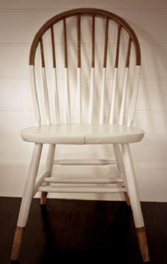 chair restoration, painted chair, white chair, tide line chair, diy chair