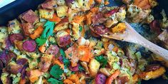 This stuffing gets a sweet side and spicy kick from andouille sausage and butternut squash.