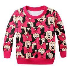 2015 printemps nouvelle arrivée bébé filles garçons Minnie mickey loisirs cartoon chandail à manches longues maillots t - shirt bébé enfants vêtements