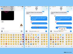 Emojis are now three times larger. The app will also suggest emojis by analyzing the text you type in the field.