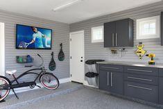 Man Cave; Storage Simplified; Organised Garage; Proslat wall; epoxy flooring