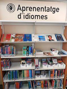 Fons especial d'Aprenentatge d'idiomes a l'Àrea d'adults de la biblioteca.