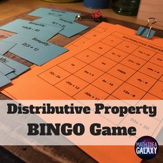 BINGO is always a hit with students. They love this distributive property activity to get lots of awesome practice. 36 unique student boards with 30 question cards.