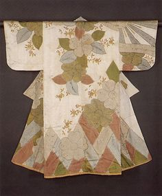 "Robe (Kosode) with Cherry Blossoms and Cypress Fence, second half of the 17th century. Edo period (1615–1868). Japan. The Metropolitan Museum of Art, New York. Purchase, Mary Livingston Griggs and Mary Griggs Burke Foundation Gift, 1980 (1980.222) | This work is exhibited in the ""Celebrating the Arts of Japan: The Mary Griggs Burke Collection"" exhibition, on view through January 22, 2017 #AsianArt100"