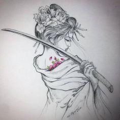 Japanese Tattoos 794463190498428795 - Tatouage geisha Source by Tatoo Geisha, Geisha Drawing, Geisha Tattoo Design, Geisha Tattoos, Irezumi Tattoos, Geisha Tattoo Sleeve, Bild Tattoos, Body Art Tattoos, Tattoo Drawings