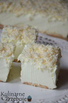 Ciasto Śnieżny puch – bez pieczenia - w kilka minut! Cold Desserts, Cookie Desserts, Delicious Desserts, Yummy Food, Sweet Recipes, Cake Recipes, Snack Recipes, Dessert Recipes, Cheesecake