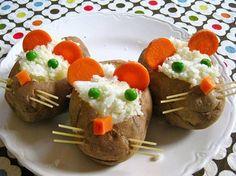 gevulde aardappelen in de schil