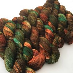 Rusty Copper. Witch Candy Yarn colorway