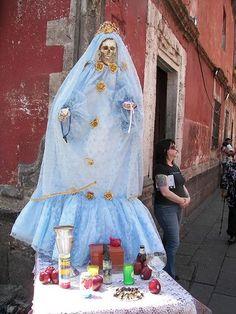 Altar to La Santa Muerte February