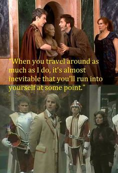 The two actors which were in Doctor Who before becoming The Doctor :)